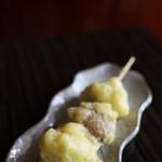 宮古そば 権三郎 - お饅頭の天ぷら