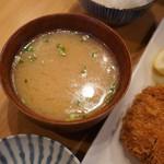 とんQ - 味噌汁