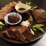 rita - 料理写真:今日は贅沢肉祭り!!カタサンカク ウチモモ 鴨胸肉のロースト