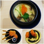 はま寿司 - ◆あおさといくらの茶碗蒸し◆260円♪       ◆大阪 串カツ盛り合わせ◆280円♪       ◆牡蛎フライ軍艦◆150円♪