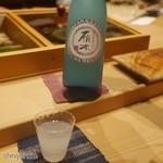 Sushi Sho - ドリンク写真:最初の日本酒、雁木
