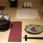 kiwa - 料理写真:・先付 白根産「かきのもと」の酢橘浸し