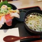 Rikimaru - 海宝丼 うどん 1080 円