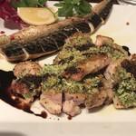 テルチャン - 鯖と鶏のソテー バルサミコ酢