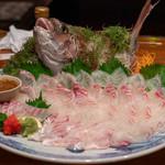 魚河岸 番屋 - 2019.9 真鯛姿造り(5,160円)