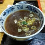 喜久家 - 蕎麦湯を楽しみます