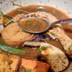 スープカリーシーエス - 青唐辛子が結構な辛さのパンチをきかせています