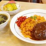 中華・洋食 やよい - ハムケチャップライス+ハンバーグ