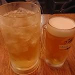 三度の飯より餃子好き - どでかハイボール547円 生ビール463円