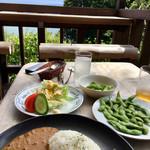 イカリヤ - 料理写真:キーマカレー&枝豆