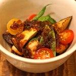東白庵かりべ - 野菜と豆腐の揚げだし ちり酢がけ