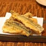 東白庵かりべ - 新秋刀魚の天ぷら