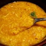 11556119 - ②キチュリはインドのお粥です お腹の調子が悪いときにもオススメ