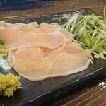 水炊き・焼き鳥 とりいちず酒場 - 鶏生ハム炙り刺し 380円
