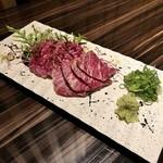 Let it Beef - 北海道産牧草牛のトロ刺し税抜1780円