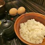 Let it Beef - AP bank耕す農園白い卵の卵かけご飯税抜520円