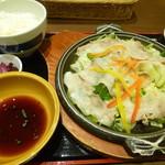 ビア&ワイン グリル銀座ライオン - 黒豚と野菜の陶板蒸し