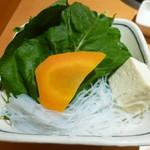 銀座しゃぶ通 - 野菜&マロニー