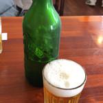 源智のそば - ビール中瓶