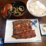 羽田うなぎ店 - '19/09/15 蒲焼定食・上(税込2,300円)