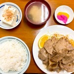 花月食堂 - 焼肉定食(肉盛)