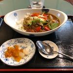 喫茶喜多西 - 料理写真:京風野菜カレーライスセット
