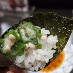 築地玉寿司 - いかおくら巻