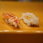 いしやま寿司 - 車海老 茹でと生