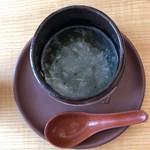中国精進料理 凛林 - 岩のりの香りが美味しいスープ