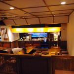 煙の下 - 通されたテーブルから見下ろした店内  (2012.02.07)
