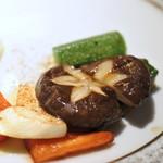 鉄板焼き ステーキ 湛山 - 秋野菜