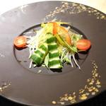 鉄板焼き ステーキ 湛山 - サラダ