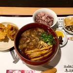 麺喰 - 牛すじカレーうどんセット