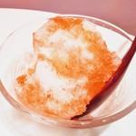 かき氷cafe さざん - イチゴ味