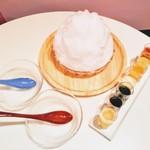 かき氷cafe さざん - 氷山分けw