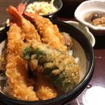 海山亭いっちょう - ミニ海老三本天丼セット