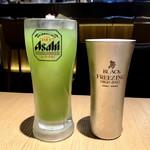 煌煌庵 - 自家製青汁ハイ  ¥480 / エクストラコールド  ¥580