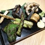 煌煌庵 - 藁焼き野菜盛り合わせ  ¥1,480