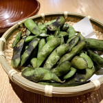 煌煌庵 - わらやき枝豆(茶豆) ¥480