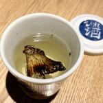 煌煌庵 - ふぐのひれ酒  ¥880