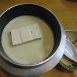 板前料理いち川 - 豆乳仕立ての湯豆腐