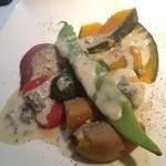 11561683 - 温野菜とゴルゴンゾーラソース