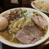 濃菜麺 井の庄 - 料理写真:辛辛濃菜麺、大盛り、味玉、ネギネギ、濃いめ硬め、辛さ控え目
