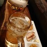 鶏魚きっちん - ビール500円 ハイボール380円