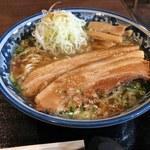 紺のれん - ねぎ豚ラーメン大盛り(900円)