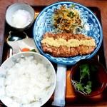鉢の木 - 鉢の木@南福島 生姜焼き定食(1200円)