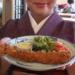 11563413 - お店のイチオシでもあり、クチコミでも人気のメニュー。【第一位】大海老フライ定食・【第二位】地鶏チキン南蛮定食・【第三位】若鶏のから揚げ定食。