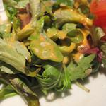 キッチンよい一日 - 添えてあるサラダは食感が柔らかいベビーリーフ。