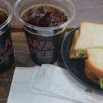 小川珈琲 - 水だしアイスコーヒーとBLTCトーストサンド