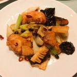 北京遊膳 - 真鯛の豆鼓炒め
